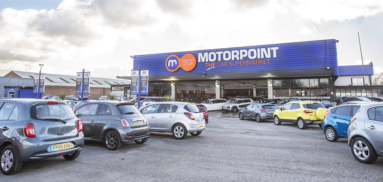 Picture of the front of Motorpoint Derby Sales Site