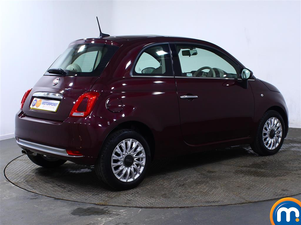 Fiat 500 Lounge Manual Petrol Hatchback - Stock Number (966243) - Drivers side rear corner