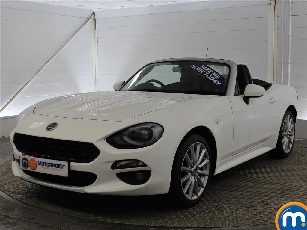 used or nearly new fiat 124 spider fiat 1 4 multiair lusso plus 2dr 973835 in white for sale. Black Bedroom Furniture Sets. Home Design Ideas