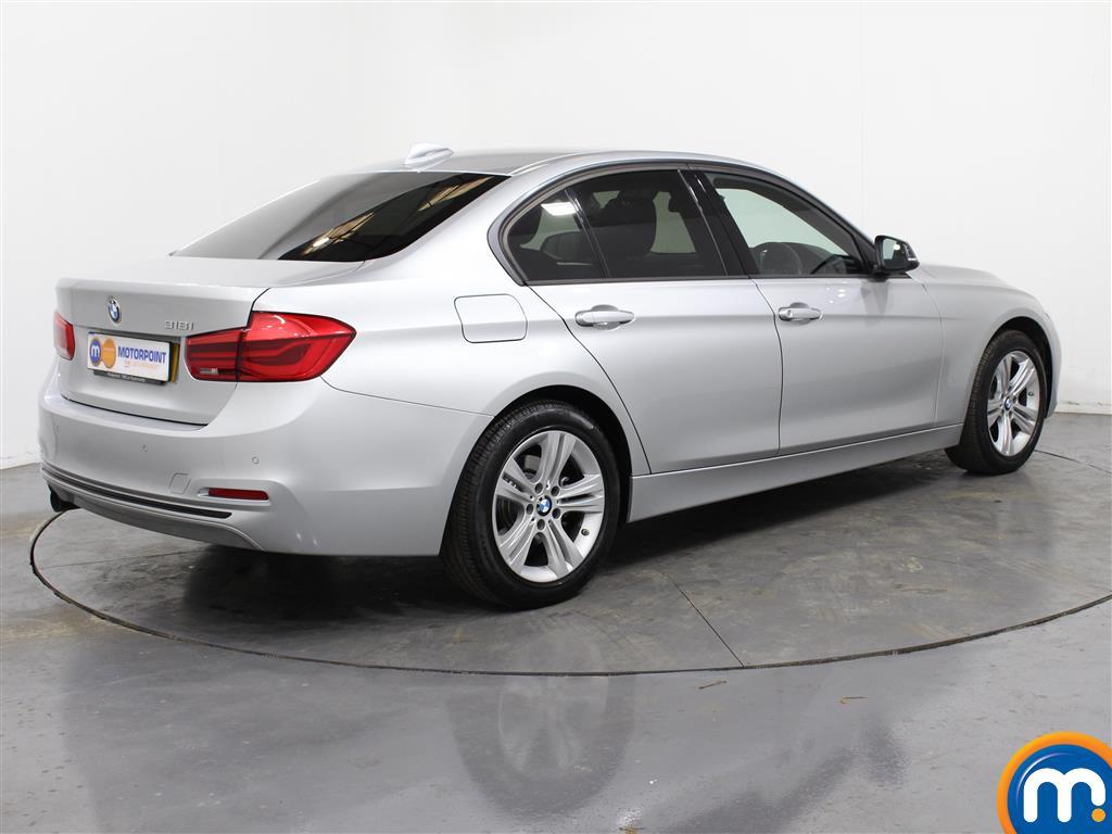 BMW 3 Series Sport Automatic Petrol Saloon - Stock Number (987544) - Drivers side rear corner