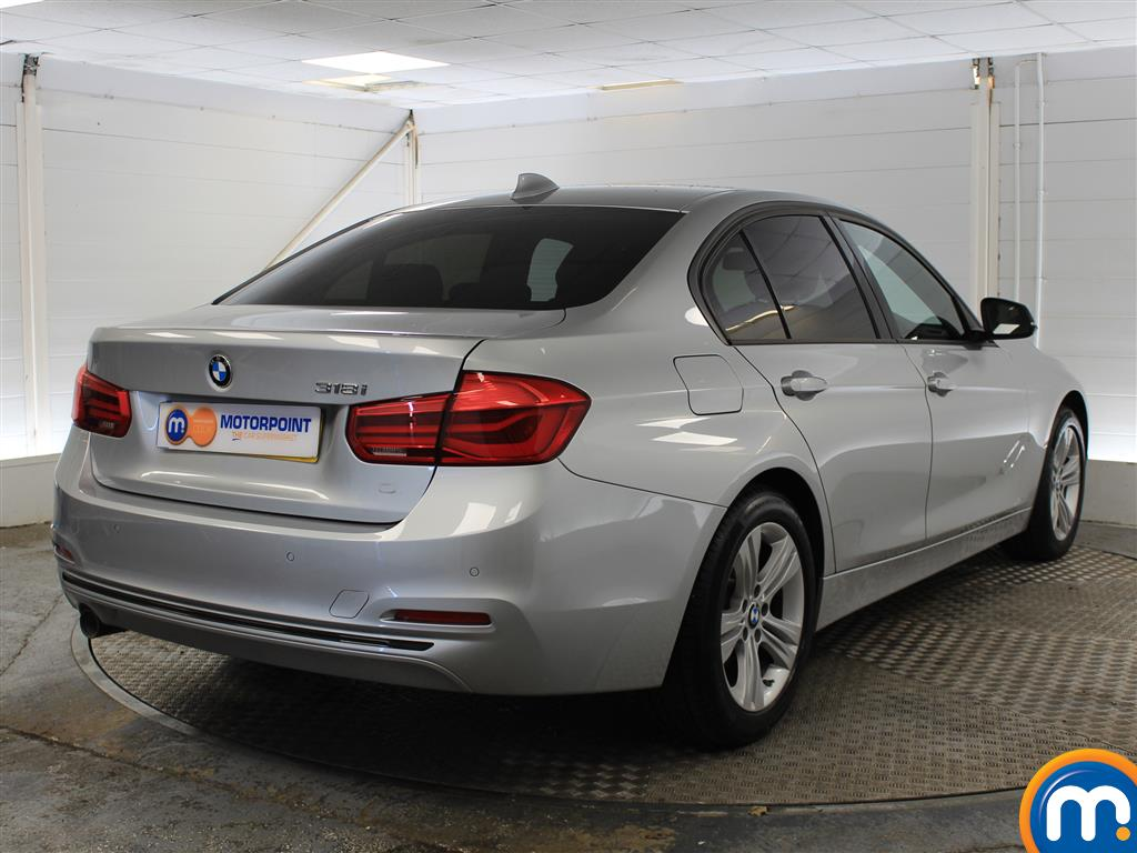 BMW 3 Series Sport Automatic Petrol Saloon - Stock Number (998855) - Drivers side rear corner