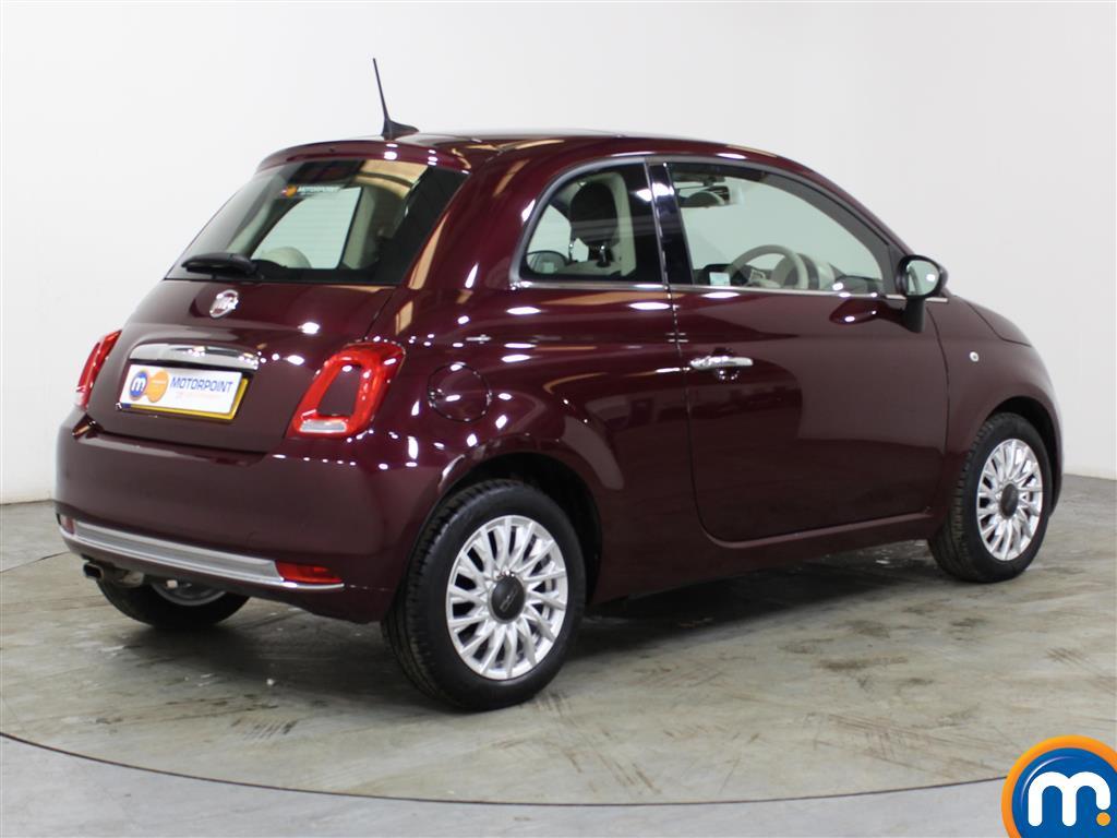 Fiat 500 Lounge Manual Petrol Hatchback - Stock Number (1012834) - Drivers side rear corner