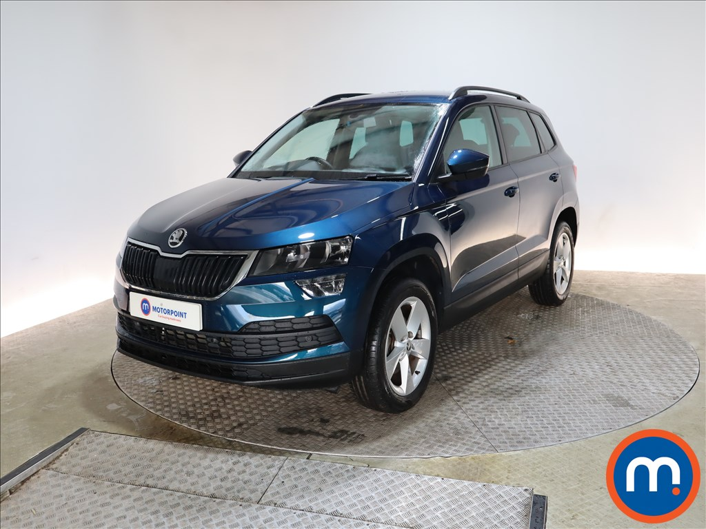Used Or Nearly New Skoda Karoq 1 5 Tsi Se 5dr 1154955 In Blue For Sale At Motorpoint Glasgow Motorpoint